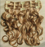 Clip on Hair Extensions Half Lace Wigs with Clips (AV-CW003)