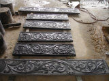 Black Granite Stone Carving for Wall or Garden Decoration