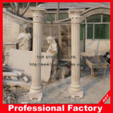 Factory Direct Granite Stone Roman Square Pillar for Decoration