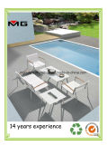 White Textilene Outdoor Patio Sofa Commercial Furniture