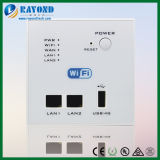 Wall-Mounted WiFi Router with Switch + 2 X RJ45 LAN Port + 5V/1A USB Charger +4G USB Dongle - White Color