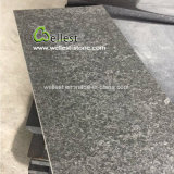 Chinese Pearl Black G684 Granite Flamed Paving Tiles