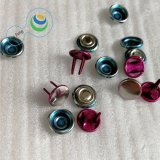 10mm Fashion Spraying Plating Brass Metal Button for Jeans/Shirt/Clothing Accessories (YF2-19)
