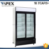2 Glass Door Upright Cooler with Famous Compressor for Beverage