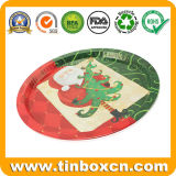 Christmas Gifts Metal Tin Serving Trays