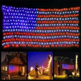 Outdoor Festival Decoration IP65 National Flag LED Net String Light