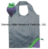Foldable Shopper Bag, Fruits Grape Style, Reusable, Lightweight, Grocery Bags and Handy, Gifts, Promotion, Accessories & Decoration