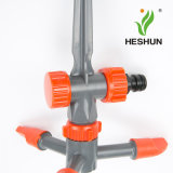 3 Arms Automatic Plastic Lawn Agricultural Water Garden Irrigation Sprinkler