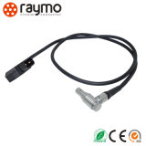 Audio video Elbow Plug Connector to D-Tap Cable Assembly Cable