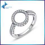 925 Sterling Silver for Women Jewelry Clear CZ Circle Round Rings
