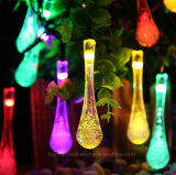 Solar Recharged LED Outdoor Multi-Color Water Drop Fairy LED String Lights