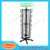 56 Pockets Metal Rotating Hanging Greeting Card Wire Display Rack Shelving for Shop