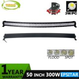 300W 50inch IP67 Epistar Auto Light Curved Bar for SUV