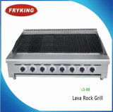 Professional Catering Equipment Manufacturer Counter Top Gas Lava Stone Grill
