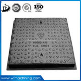 China Foundry Dutile Iron Square Manhole Cover with Frame Round Opening Manhole Covers 600X600