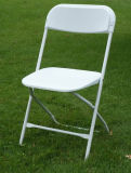 White Metal Frame Beach Folding Chairs for Outdoor Party