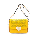 High Quality Heart Decoration Rivet Messenger Bag (MBNO038102)