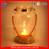 Popular Glass Candle Holder with Portable Rope