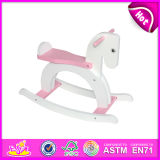 2015 Pink Wooden Rocking Horse for Kids, Cute Wooden Toy Rocking Horse for Children, Lovely Wooden Rocking Horse Wholesale W16D057