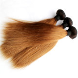 100% Indian Remy Hair Extension Two Tone Color Hair Weaving