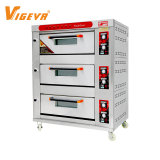 3 Deck 6 Tray Commercial Price Bakery Bread Pizza Cake Baking Gas Oven