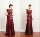 Burgundy Mother′s Dresses Applique A-Line Taffeta Evening Dresses Z5065