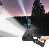 Rechargeable Flashlight, Super Bright LED Flashlight, Long Beam P50 10W Torch, Water Resistant Handheld Torchlight for Searching