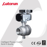Small Size Pneumatic Two-Piece Ball Valve with Mini Actuator