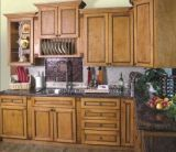 American Style Maple Solid Wood Kitchen Cabinet (JX-KCSW024)