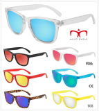 Colorful Fashion Plastic Sunglasses with Metal Hinge (MI251219)