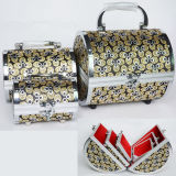 Aluminium Cylinder Cosmetic Case Sets with Mirror