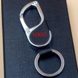 Kc_M_828 Zinc Alloy Custom Logo Metal Souvenir Leather Keychain