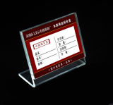 Clear Acrylic Price Tag Menu Holder Advertising Sign Display Stand Table Name