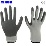 Polyester Shell Nitrile Coated Working Hand Safety Industrial Gloves