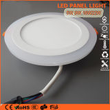 3+2W Round / Square Acrylic Blue White Double Color LED Panel Light for Home Decoration