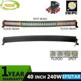 240W 40inch Epistar Offroad Dual Rows LED Curved Bar