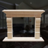 Smooth Marble Fireplace with Fine Hand-Carved Quality and Simple Style