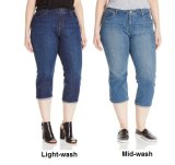Women′s Plus-Size Plus Capri Jeans with Custom Logo