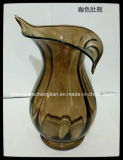 Hand Made Amber Color of Glass Vases (V-031)