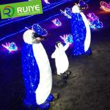 Illusion 3D Light LED Toy Penguin Motif Outdoor Decorative Light