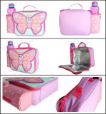 Pink Butterfly Polyester Lunch Box