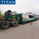Titan 3 Axle Low Bed 80 Ton 100 Ton 120 Ton Folding Removable Detachable Gooseneck Lowboy Trailer Price
