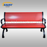 Durable Powder Coating Steel Park Bench