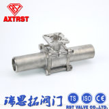 Extended Welding 3PC Ss Ball Valve with ISO5211 Mounting Pad