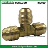 Top quality male npt lead free brass flare union tee pipe fitting
