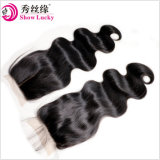 Fashion Hair 4X4 Silk Base Closure Three/Middle Part Top Swiss Lace Closure Brazilian Body Wave Virgin Human Hair Closures Pieces