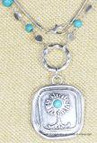 Fashion Anti Silver Handmade Tree Pendant Necklace