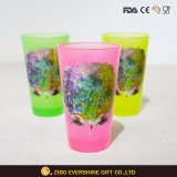 16oz Black Light Pink Pint Glass with Foil Printing