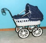 (BC-BA1007) High Quality Handmade Willow Baby Stroller