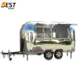 Airstream Mobile Snack Fast Food Kitchen Trailer for Europe